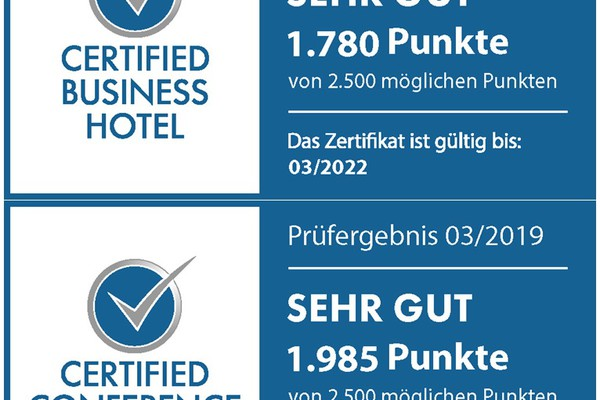 Rezertifizierung Certified Business und Certified Conference Hotels